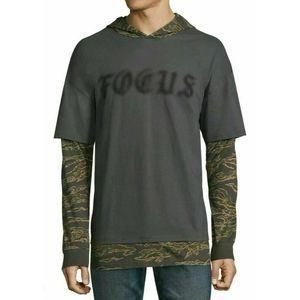 *5/$20Men's Medium Large XL Oversized Hooded Shirt